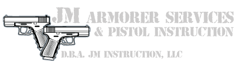 JM Armorer Services and Pistol Instruction | D.B.A. JM Instruction, LLC Logo